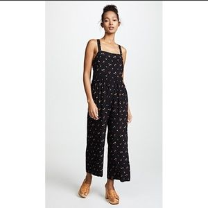 Madewell flower toss smocked jumpsuit size 00